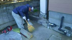 塗装 群馬 前橋 清掃作業