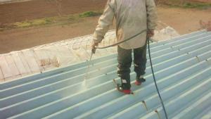 塗装 群馬 前橋 倉庫屋根洗浄