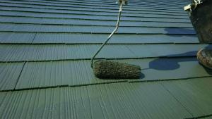 屋根塗装 アサヒペイント 群馬 上塗り
