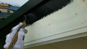 破風板塗装 アサヒペイント 塗装 群馬