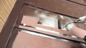 ローラー塗り アサヒペイント 屋根塗装 群馬