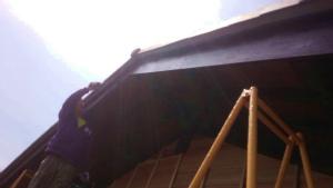塗装 群馬 アサヒペイント 破風板塗装