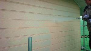 安中市原市A様邸 外壁洗浄作業