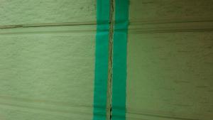 安中市原市A様邸 コーキング作業前の養生テープ