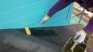 安中市原市A様邸 屋根塗装下塗り1回目