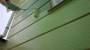沼田市高橋場町O様邸 外壁塗装下塗り