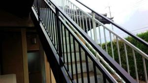 伊勢崎市市場町A様邸 鉄骨階段塗装完成