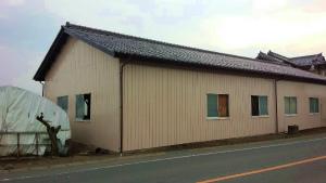 伊勢崎市市場町A様邸 倉庫塗装完成①