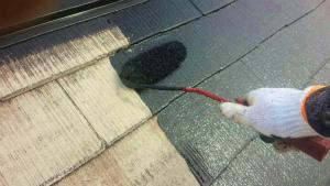 屋根塗装 上塗り アサヒペイント 群馬