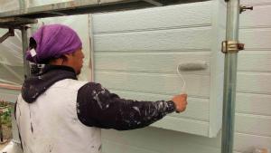 外壁塗装 アサヒペイント 群馬 塗替え中