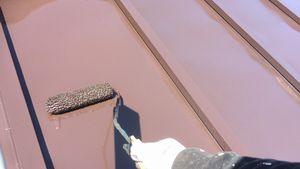 ローラー塗装 屋根塗り替え アサヒペイント 群馬
