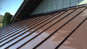 屋根塗装完成 アサヒペイント 群馬 塗替え