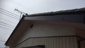 渋川市伊香保町A様邸 付帯部塗装破風板完成