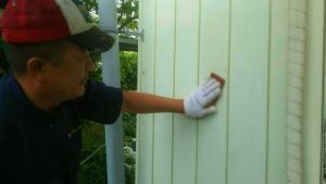 太田市只上町S様邸 下地補修作業外壁ケレン