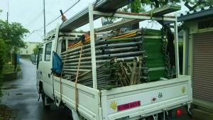 太田市只上町S様邸 足場解体トラック積み込み完了