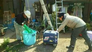利根郡昭和村Y様邸 洗浄前の準備作業