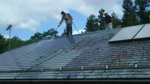 利根郡昭和村Y様邸 屋根洗浄作業