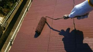 佐波郡玉村町O様邸 下屋根塗装上塗り2回目