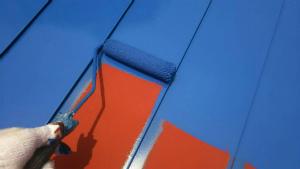利根郡昭和村Y様邸 母屋の大屋根の上塗り