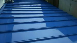 利根郡昭和村Y様邸 下屋根塗装完成