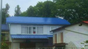 利根郡昭和村Y様邸 屋根塗装工事完成②