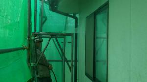 前橋市総社町K様邸 外壁洗浄作業1