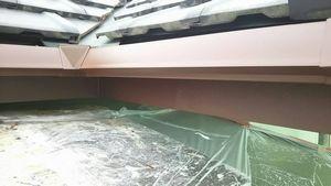 前橋市総社町K様邸 雨樋下塗り完成