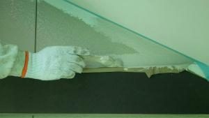 前橋市総社町K様邸 外壁の中塗り作業