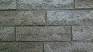 前橋市総社町K様邸 外壁タイル部分のクリヤ塗装下塗り完成