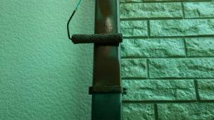 前橋市総社町K様邸 雨樋の縦樋の塗装