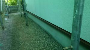 前橋市総社町K様邸 付帯部の水切り塗装完成