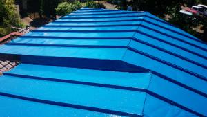 桐生市東久方町I様邸 屋根の塗装上塗り完成
