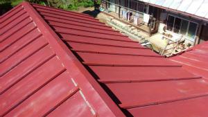 利根郡片品村H様邸 蔵屋根塗装工事前アップ