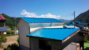 利根郡片品村H様邸 屋根塗装工事完成