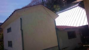利根郡片品村H様邸 蔵屋根塗装工事前