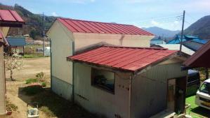 利根郡片品村H様邸 物置屋根塗装工事前