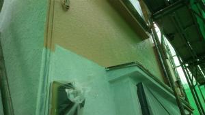 伊勢崎市市場町S様邸 外壁塗装中塗り