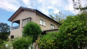 前橋市柏倉町H様邸 外壁と屋根の塗装完成 斜め