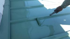 前橋市柏倉町H様邸 別棟屋根の塗装完成