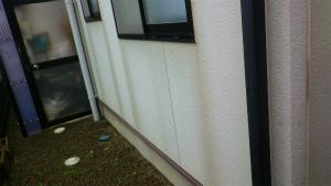 前橋市総社町K様邸 外壁塗装前の汚れた部分