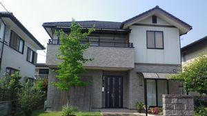前橋市総社町K様邸 外壁塗装前 正面