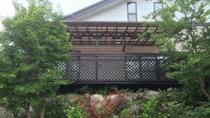 渋川市中郷町M様邸 ウッドデッキ塗装完成2