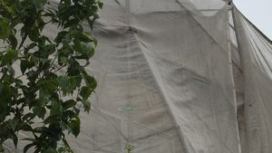 佐波郡玉村町S様邸 塗装の為のネット
