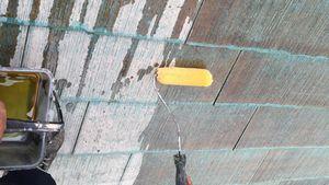 佐波郡玉村町S様邸 屋根塗装下塗り1回目