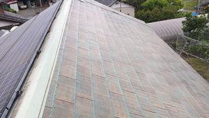 佐波郡玉村町S様邸 屋根塗装下塗り2回目完了