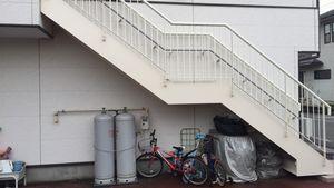 前橋三俣町Y様邸 鉄骨階段塗装完成④