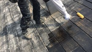 前橋市富士見町I様邸 屋根の塗装下塗り2回目