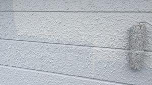 前橋市富士見町I様邸 外壁塗装の上塗り①