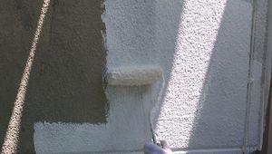 桐生市新里町K様邸 外壁塗装下塗り