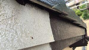 桐生市新里町K様邸 付帯部破風板の下塗り